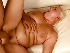 overweight granny getting her twat drilled