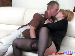mature russian drilled by sex tool and schlong