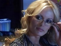older golden-haired teacher with biggest knockers