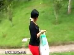 brazilian mama widens wide