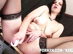 smutty & perverted older woman brutally fisted