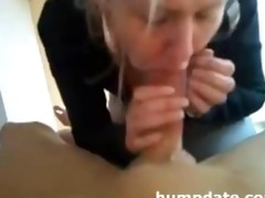 golden-haired mother i gives oral job and tugjob