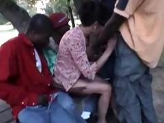 french wife nadine takes blacks in the park