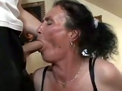 breasty dark brown granny receives naughty twat