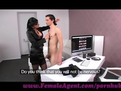 femaleagent. virgin receives expert guidance from