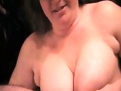 cumming on breasty wifes face