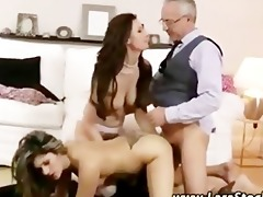 three-some cum-hole fuck train