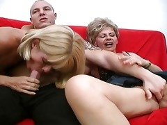 avid aged sluts share one powerful dick