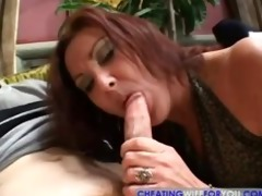 older brunette hair mother i sucks, copulates and