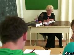 hard trio right in the classroom