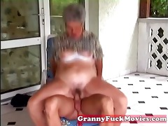 youthful fellow fucking old obese granny