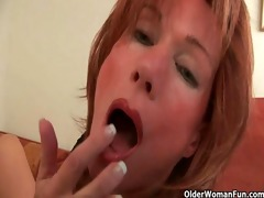 redheaded grannies in craving fuck a vibrator