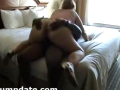 white hottie with mega gazoo rides dark dick