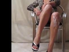 wife hot open legs with upskirt