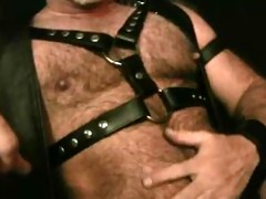watching leather dad jerking off