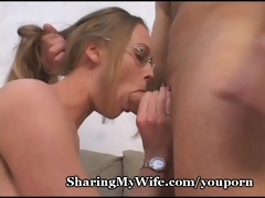 sissy hubby shares wifes hot twat