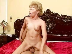 lusty grandma enjoys hard sex with a chap