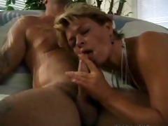 sharin enjoys sex with jack hammer on the sofa