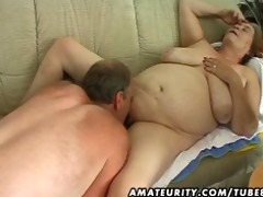 overweight aged amateur wife sucks and bonks