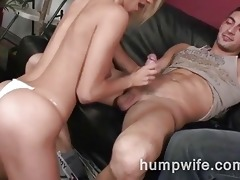 cuckold wife sucks whilst spouse watches her