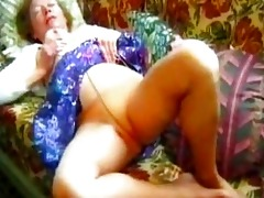nicely titted hose granny plays