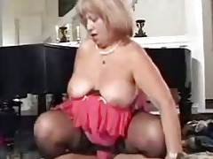old obese lustful granny in pantyhoes drilled
