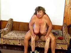 immodest grandma with big wobblers riding part9