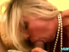 slutty chic mother i on knees pov engulfing