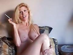 glamorous blond d like to fuck enjoys a smoke