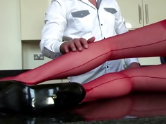 chic english aged in red nylons queens chap