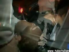 italian dilettante pompino in auto