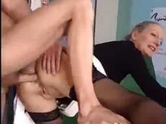 kitchen naughty granny