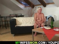 lewd granny lures her son-in-law