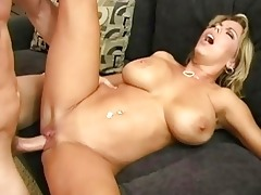 hot breasty golden-haired mother i doing oral-sex