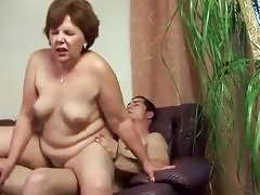 obese grandma fucking a attractive boy