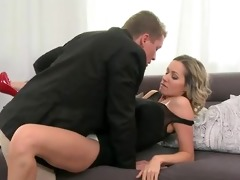 golden-haired mama with giant love melons fucking