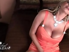 rachel aziani acquires off with her new toy