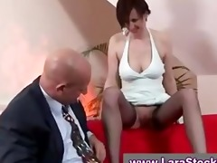 older in nylons given oral pleasure