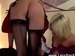 lesbo concupiscent brit dilettante in nylons