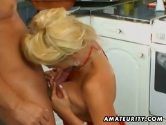 breasty dilettante milf anal and facial in the