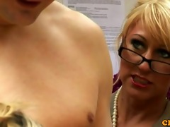 tough femdom cfnm matures stroking chap