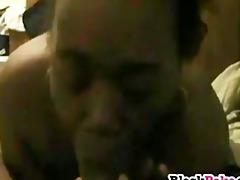 movie of ebon playgirl engulfing hubbys dark cock