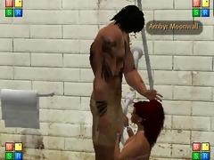 sexy cum shower