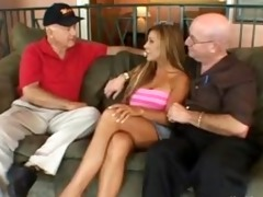 hubby enjoyed watching breasty wife drilled hard