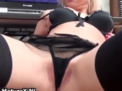 nasty golden-haired housewife takes her part0