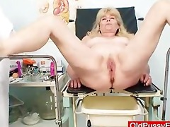 blonde gran immodest puss test and enema
