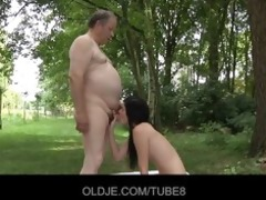 hawt brunetted screwed by gross old dude