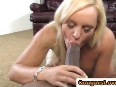 naughty cougar acquires interracial jock