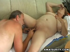 corpulent mature non-professional wife sucks and