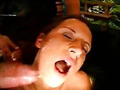 bukkake sex cream fuckfest with a milf!